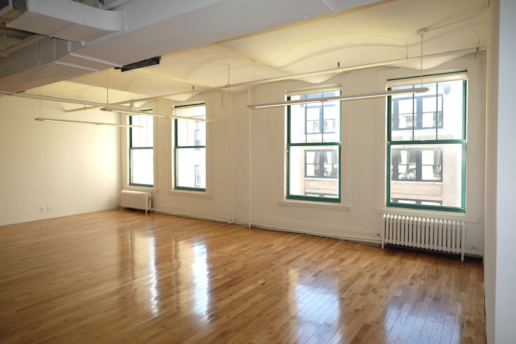 20 West 21st Street, Loft Office Rental, Wet Pantry, Private Bathroom, Hardwood Floors