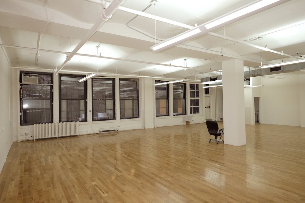 West 21st Street, Budget Office Space, Open Plan, Hardwood Floors