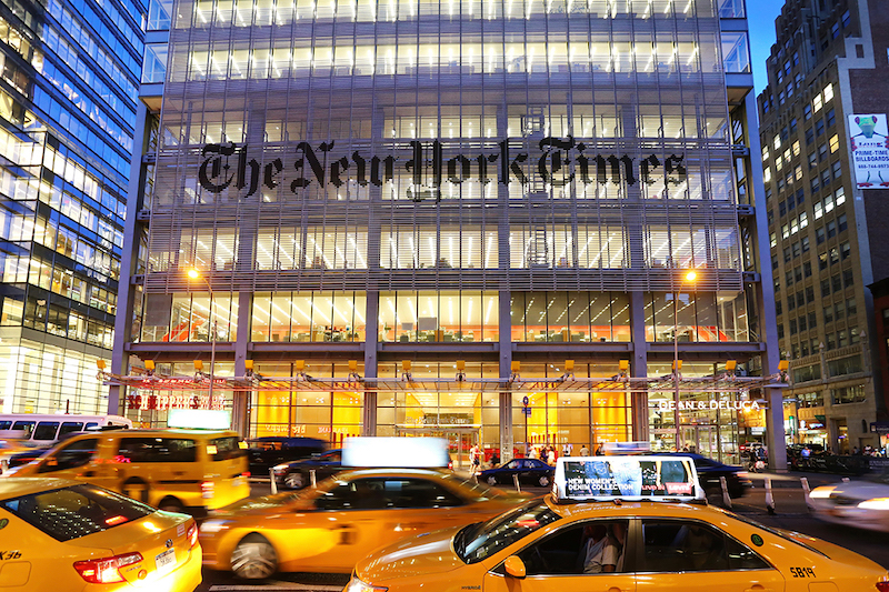 New York, US - 20 August 2015. The New York Times Building; Shutterstock ID 325372367;