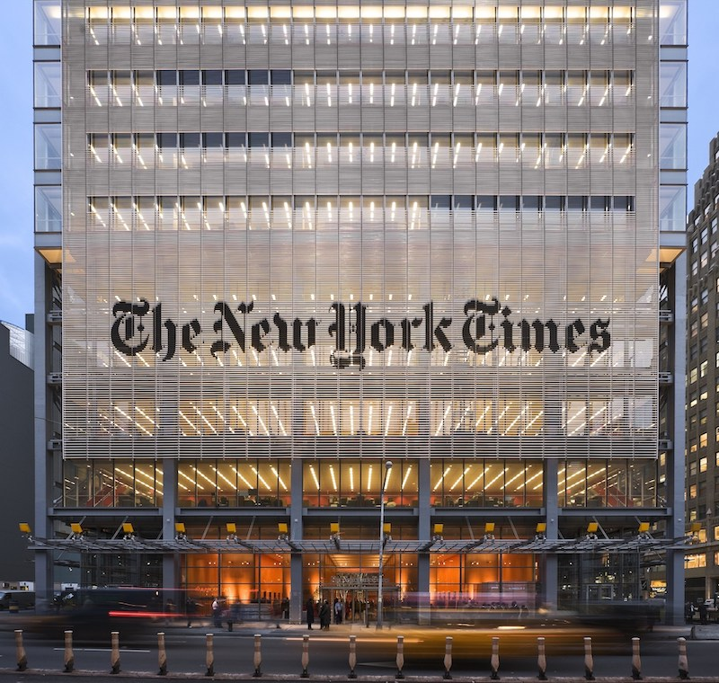 The New York Times Building (courtesy of Shildan Group)