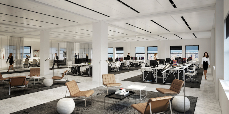 Office space at the Helmsley Building, 230 Park Avenue (courtesy of RXR Realty)